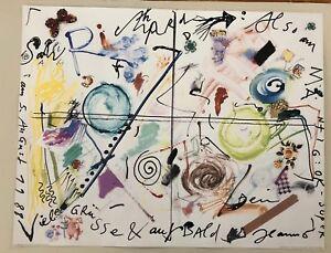 JEAN TINGUELY, 'SALU RICHARD,1988' RARE 2006 ART PRINT