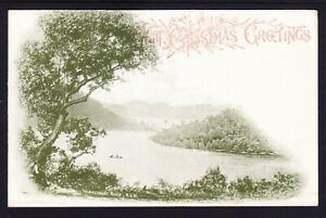 1897-1½ Blue 'with Christmas Greetings' scene Hawkesbury River sage green,HG23a