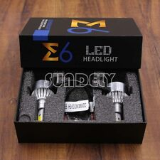 Car LED H3 Headlight Bulbs Conversion Kit 6000K 72W 7600LM Xenon White