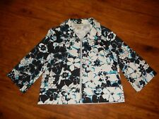 Requirements - Women's floral sping jacket - Size L - Teal, black & white