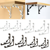 Pair Heavy Duty Wall Mounted Shelf Bracket Supporter Corner Brace 2 Color 4 Size