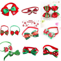Cute Christmas Dog Cat Pet Puppy Bowknot Necktie Collar Bow Tie Clothes Gift New