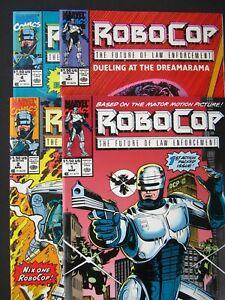 RoboCop #1, #2, #3, #4  NM 1990  Lot OF 4 High Grade Marvel Comic *UNREAD*
