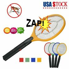 Cordless Bug Zapper Mosquito Insect Electric Fly Swatter Pest Killer Racket Bat