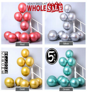 "500 Wholesale Factory Price Chrome Pearl Metallic Shine 5"" inch Bulk Balloons UK"