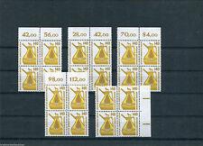 Berlin SWK 832 ** 5 x Viererblock Mi.75,00 €  postfrisch/MNH Sehenswürdigkeiten