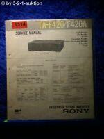 Sony Service Manual TA F420 / F420A Amplifier (#1314)