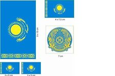 Kasachstan lfd0084 Autoaufkleber Sticker Fahne Flagge Land