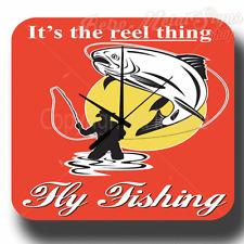 Reloj De Pared es cosa de carrete pesca con mosca Estilo Retro Metal Tin Señal