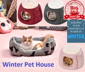 Dog Bed Mat House Pad Warm Winter Pet House Nest Dog Bed With Kennel