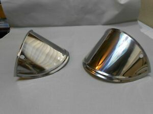 vintage style drop 7 inch headlight visors slanted slant down eye lashes visor