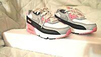 Men's Nike Air Max 90 White Grey Rose Pink Black size 2Y CD6867-104
