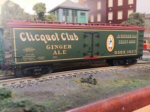 ATLAS O 40' Wood Reefer #8195 Clicquot Club #1427 3 Rail Golden Spike Club 2007