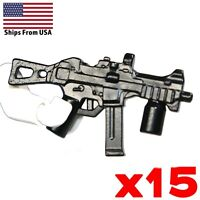 LEGO Guns UMP 45 SMG Lot of 15 Sub-Machine Gun Military SWAT Soldier Weapon Pack
