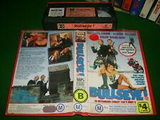 Vhs *BULLSEYE(1990)* Rare RCA 1st Issue Comedy Roger Moore + a Star Studded Cast