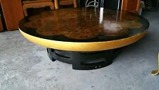KITTINGER HOLLYWOOD REGENCY THEODORE MUELLER FAUX TORTOISE COCKTAIL TABLE