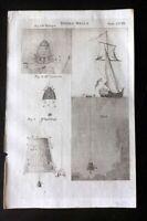 Encyclopaedia Perthensis 1816 Antique Print. Diving Bells 208