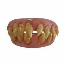 Ghoulish Grin Scary Clown It Teeth Set Sharp Top & Bottom Thermal Fitting