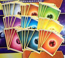 45 Energy Cards (5 of each) Sun & Moon Pokemon Cards TCG and GO Dark Fire Grass