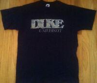 Vintage DUKE UNIVERSITY shirt 90s Medium navy blue silver devils basketball USA