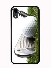 3 Iron Golf Club Hitting Golf Ball For Iphone XR 6.1 2018 Case