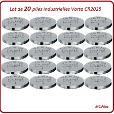 20 pilas de botón CR2025 litio Varta Industrial