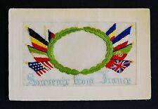 WW1 Silk Postcard Space For Photograph Dragon Street Petersfield Hamphire GU31