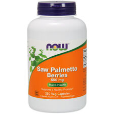 Saw Palmetto Berries, 550mg x 250 Capsules - NOW Foods