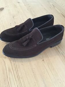 Russell & Bromley Men's Brown Suede Tassel Loafer Size UK 10.5