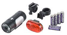Fahrradbeleuchtung Set StVZO 30 Lux LED Scheinwerfer Rücklicht Batterie Licht