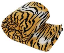Animal marrón Tiger Print cálido grandes Cobertor 254cm X 265cm Polar Sofá Cama Manta