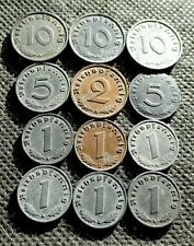 AUTHENTIC OLD COINS OF THIRD REICH GERMANY SWASTIKA WORLD WAR II - MIX 1250