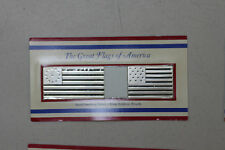 The Franklin Mint, Great Flags of America, Solid Sterling Proof .925 Silver