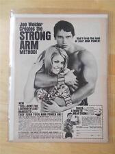 ARNOLD SCHWARZENEGGER bodybuilding muscle STRONG ARM advertisement ephemera ad