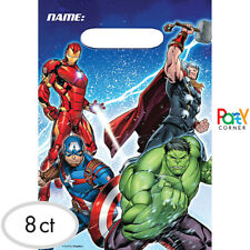 Avengers Birthday Party Supplies LOOT BAGS TREAT BAGS / FAVOUR BAGS Pack Of 8