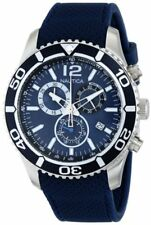 Nautica Mens NST 09 Stainless Steel Watch W/ Blue Silicone Band