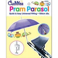 Pram Umbrella Canopy Parasol Universal Baby Toddler Shade Pushchair Sun Rain UK