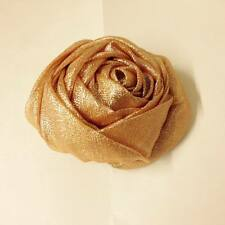 6x GOLD ORGANZA ROSE For Chair Covers Wedding Party Dinner DECORATION