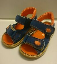 21 Blau Streifen LEDER Neu BABY Jungen Kinder Schuhe SANDALEN MADE IN ITALY Gr