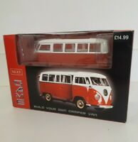 VW Camper Van Bus Build Your Own Toy Model Red White New and Unused