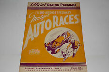 Midget Auto Races Program, Fresno Airport Speedway, Sept 21 1947, Original
