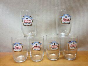 6 Bicchieri Birra Collezione Nastro Azzurro Peroni Export Lager Vintage Anni 60
