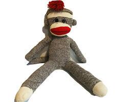 "Schylling Rowley Gray Sock Plush Stuffed Monkey 23"" Doll Collectible"