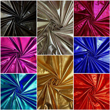 9 Colours Shiny METALLIC Mirror Foil Lycra Spandex Stretch Fabric Material