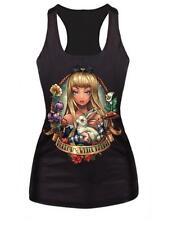 Women Rock Band Concert Music Tank Top Gothic Punk Vest Princess Shirt Cosplay