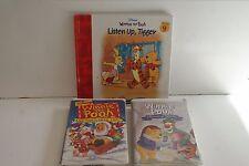 VHS Disney Winnie the Pooh Christmas & Seasons of Giving Plus Pooh Book L#1291