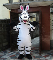 3 Marty Zebra Mascot Costume Cosplay Party Fancy Dress Adults