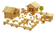 Farm wooden  Construction Set.300 pcs.Eco-friendly. STEM Toys.