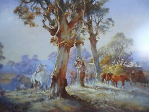 Darcy Doyle, d'Arcy W. Doyle, Break of Day. Horses in the Field.Yearlings.