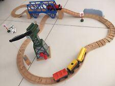GIGGLE CRANKY CRANE SET : Thomas Wooden Railway Engine Bridge Harold Helicopter